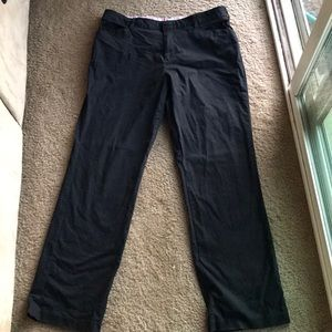 Dickies women's black curvy straight leg pants 10